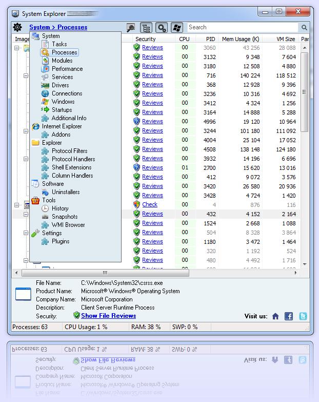 System Explorer News