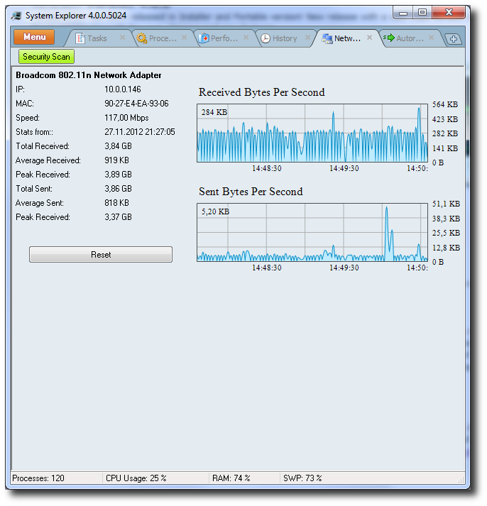 System Explorer screenshot